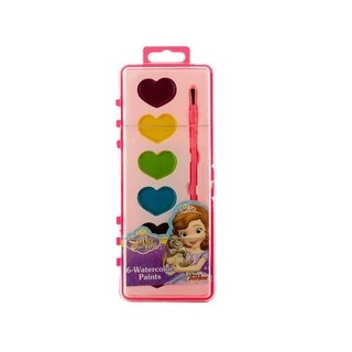 Kole Imports Sofia the First Watercolor Paint Set - Pack of 12