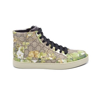 "Mens Gucci 'Common' High Top Sneakers In ""Bloom Print"" Size U.S. 10"