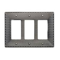 Atlas Homewares MANPTR Mandalay Triple Rocker Switch Plate