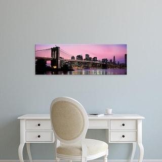 Easy Art Prints Panoramic Image 'Brooklyn Bridge across East River, Manhattan, New York City, New York' Canvas Art