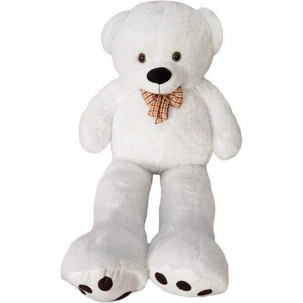 Kreative Kids White Giant Teddy Bear Stuffed Animal Toy 4 Feet