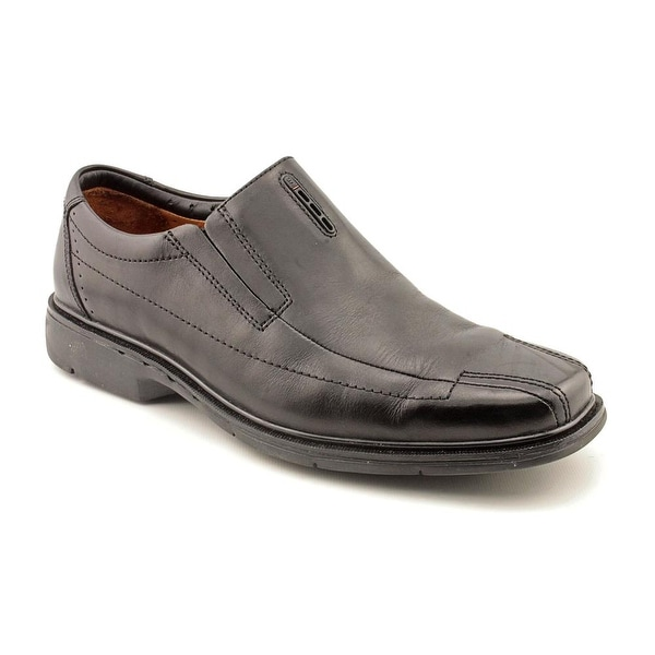 Unstructured By Clarks Un.Sheridan Men EW Square Toe Leather Black Loafer