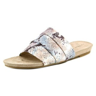 Chinese Laundry Famous Open Toe Canvas Slides Sandal