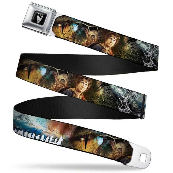 Smaug Icon Full Color Black Gray The Hobbit Collage Bilbo Baggins Pose Seatbelt Belt