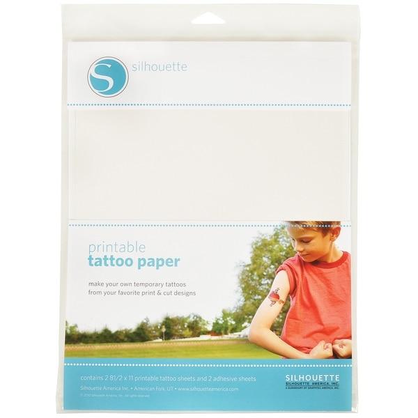 "Silhouette Temporary Tattoo Paper 8.5""X11"" 2/Pkg-"