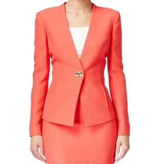 Tahari BY ASL NEW Orange Women's Size 12 Crinkle Turnlock Jacket