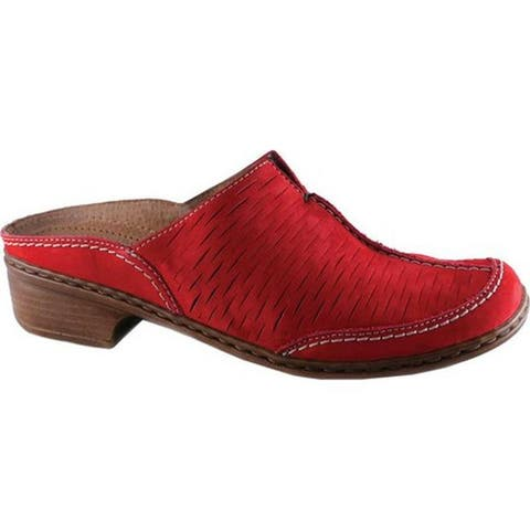Jenny by ara Women's Ruffina 52793 Mule Red Leather