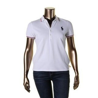 Polo Ralph Lauren Womens Julie Polo Top Pique Olympic