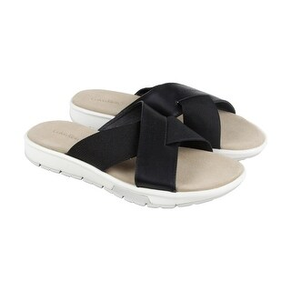 Calvin Klein Palmiro Nappa Calf Mens Gray Leather Flip Flops Sandals Shoes