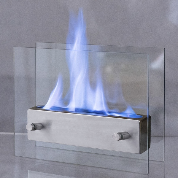Costway Portable Tabletop Fireplace Ventless Bio Ethanol Garden Fire Stainless Steel by Generic