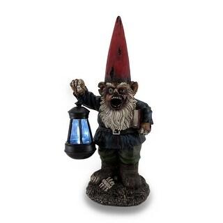 Walking Fred Zombie Gnome Solar Lantern Statue 17 in. - Multicolored