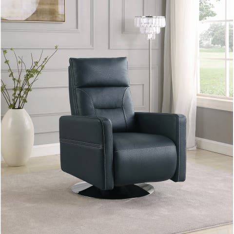 Copper Grove Mafolie Round-base Swivel Push Back Recliner