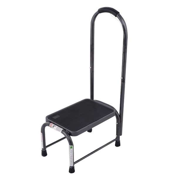 Costway Non-Slip Handy Support Step Stool w/ Handle 330 Lbs Load Capacity Kitchen Safety - as pic