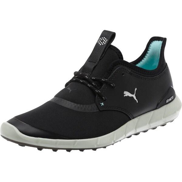 Puma Women's Ignite Spikeless Sport Golf Shoes BlackSilverAruba Blue 189422 01