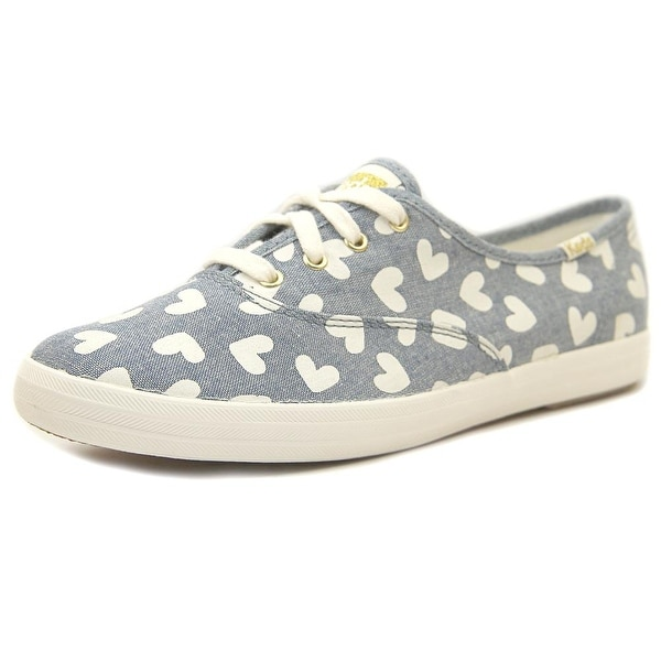 Keds Chambray Hearts Women Heart Blue Sneakers Shoes