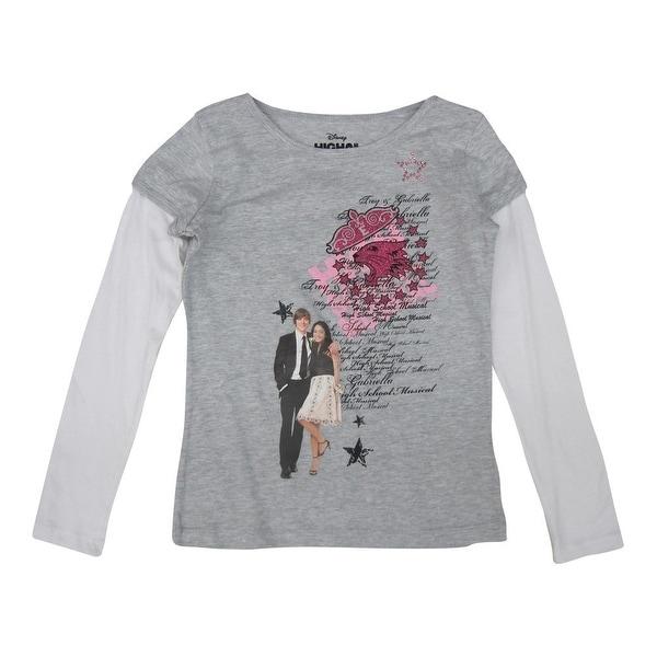 Disney Little Girls Grey High School Musical Glitter Printed Shirt 4-6X