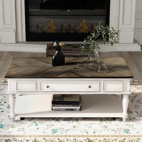 Cocktail Table Coffee Table with Caster Wheels