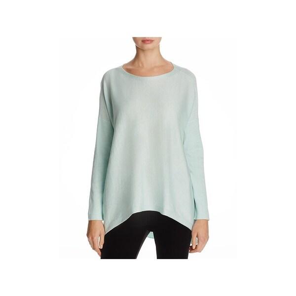 e7c08d9200 Shop Eileen Fisher Womens Tunic Sweater Bateau Neck Hi-Low - m ...