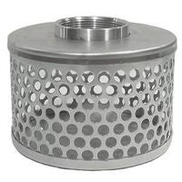 Abbott Rubber 0242297 Round Hole Hose Strainer, for Use with Pump Suction Hose, 2 in. FNPT - Plated Steel