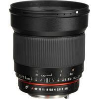 Rokinon 16mm f/2.0 ED AS UMC CS Lens for Pentax K APS-C Mount - Black