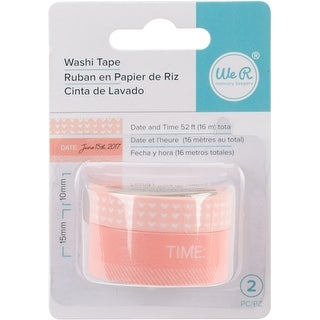 Day & Time-Coral - We R Chomper Washi Tape 4/Pkg
