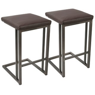 Link to Carbon Loft Arturio Industrial Counter Stool (Set of 2) Similar Items in Dining Room & Bar Furniture