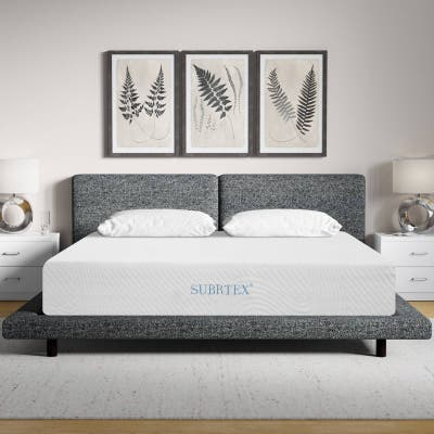 Subrtex 12-inch Gel-Infused Memory Foam Bed Mattress With Cover