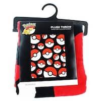 """Pokemon Pokeball 48"""" x 60"""" Throw Blanket - Multi"""