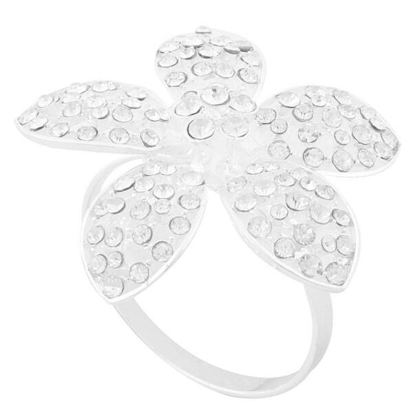 Birthday Metal Flower Detail Western Food Decor Napkin Serviette Holder Ring