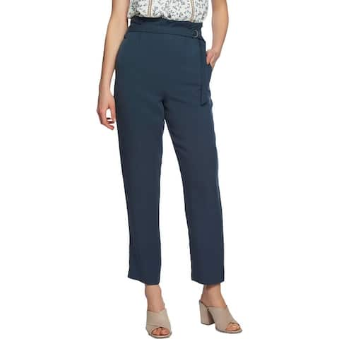 1.State Womens Cropped Pants Knit Tapered - Midnight Sky