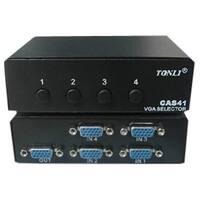 4XEM 4XVGASL2503 4XEM 4-Port VGA/SVGA Manual Switch - 1600 x 1280 - SVGA - 4 x 41 x VGA Out