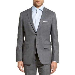 Theory Wellar Harrismith Slim Fit Dark Grey Check Sportcoat Blazer