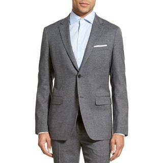 Theory Wellar Harrismith Slim Grey Checkered Sportcoat 46 Regular 46R Jacket
