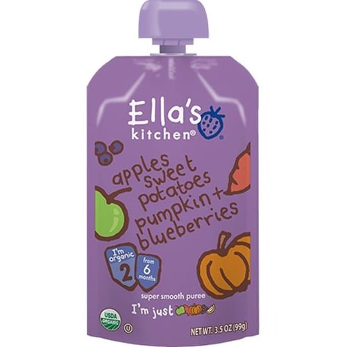 Ella's Kitchen - Apples Sweet Potatoes Pumpkin & Blueberries Puree ( 12 - 3.5 OZ)