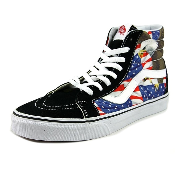 00a8e97d2fde01 Vans Sk8-Hi Reissue Men (Free Bird) Black True White Skateboarding Shoes