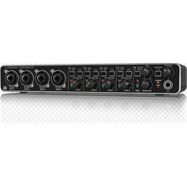 Audiophile 4 x 4 24-Bit 192 kHz USB Audio MIDI Interface with MIDA