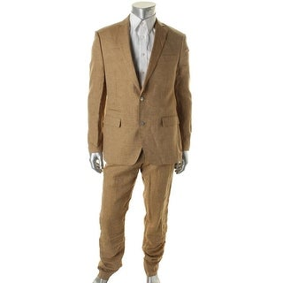 Tallia Mens Linen Woven Two-Button Suit - 38s