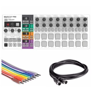 Arturia BeatStep Pro Controller and Sequencer Bundle with USB and Midi Cables