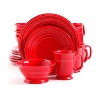 Gibson Barberware 16 Pc Dinnerware Set - Red