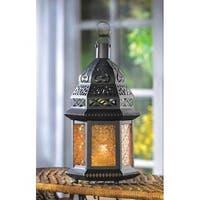 Yellow Glass Moroccan Lantern