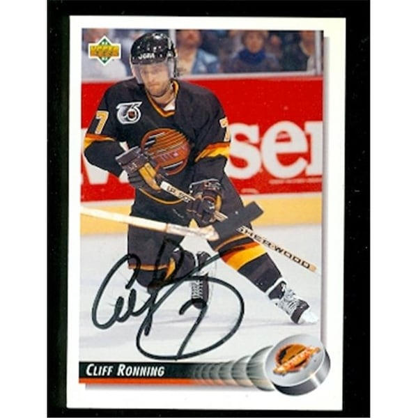 fee6befec3f Shop Cliff Ronning Autographed Hockey Card Vancouver Canucks 1992 Upper -  Free Shipping On Orders Over  45 - Overstock.com - 23732518