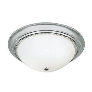 """Norwell Lighting 5373 Soleil 2 Light 14"""" Wide Flush Mount Ceiling Fixture with White Glass Shade"""
