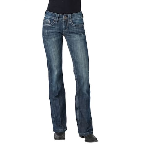 Stetson Western Jeans Womens Bootcut Slim Med Wash