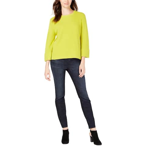Eileen Fisher Womens Flared Pullover Sweater, Green, PS