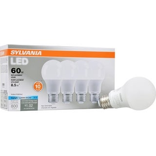 Sylvania 79284 Value Non-Dimmable LED Ligh Bulbs , 8.5 Watts, 120 Volts
