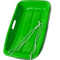 "Image 26"" Kids Snow Sled Plastic Toboggan Boat Sledge Snowboard Green 25.6*14.2*4.3inch - SIZE"