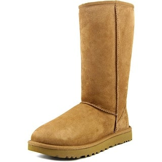 Ugg Australia Classic Tall ll Women Round Toe Suede Tan Winter Boot