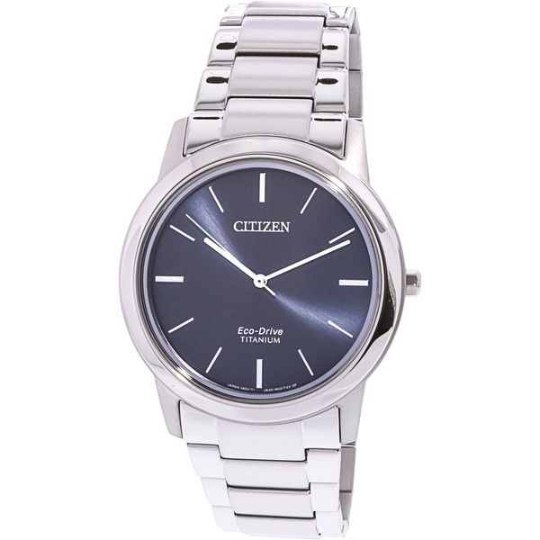 bf5a9621048 Shop Citizen Men s Eco-Drive Silver Titanium Japanese Quartz Fashion Watch  - Free Shipping Today - Overstock - 20345309