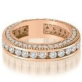 2.00 cttw. 14K Rose Gold Round Channel and Prong Diamond Eternity Ring - Thumbnail 0