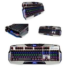 Mazer Black Backlit Aluminum Mechanical Keyboard EKM729 for PC/ Desktop Computer